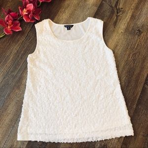 George off white or cream sequined tank top